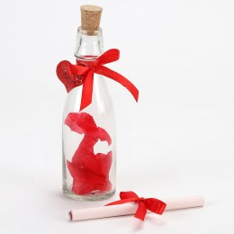 Rose Day Message in a Bottle