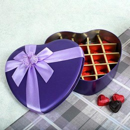 Assorted Chocolates Purple Heart Box