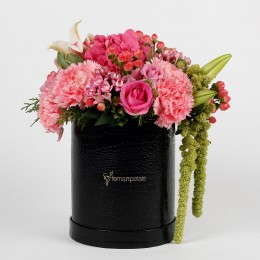Mixed 28 Premium Flowers in Black FNP Box