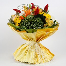 Bright Colourful 28 Mixed Flowers Bouquet