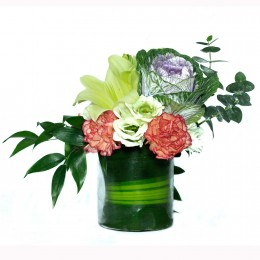 Carnations Asiatic Lilies Arrangement