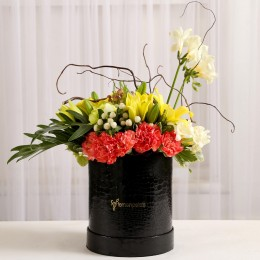 Mixed Exotic Flowers in Black Box