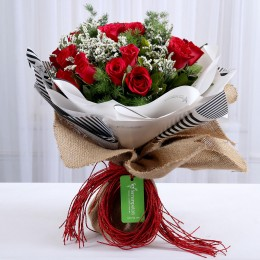 Vibrant 20 Red Roses Bouquet