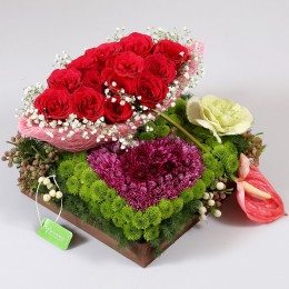 Exotic Flowers Tray Arrangement