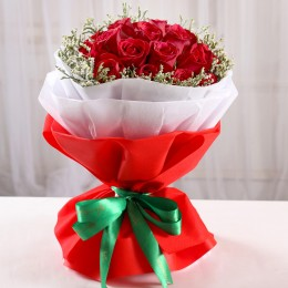 Bewitching Red Rose Bouquet