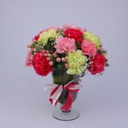 Delightful Colourful Carnations Arrangement