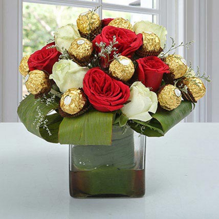 Distinctive Choco Flower Arrangement