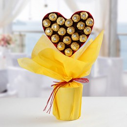 Ferrero Rocher Heart Bouquet