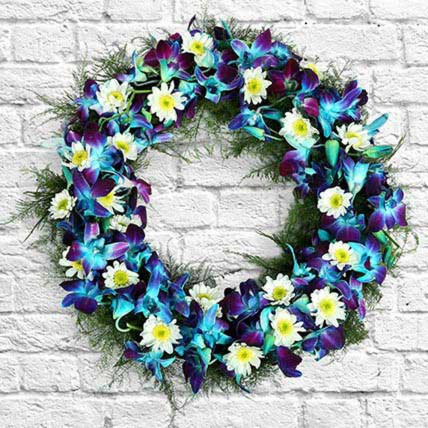 Serene Flower Wreath