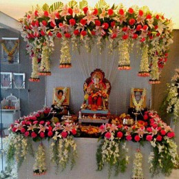 Marvelous Floral Ganpati Decoration