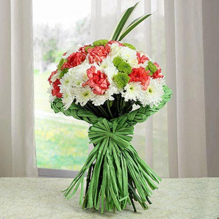 Artistic Bunch Of Carnations