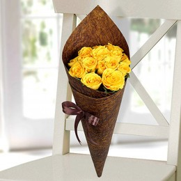 Joyful Yellow Roses Bunch