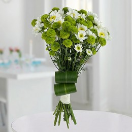 White N Green Flower Bunch