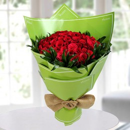 Beautiful Red Roses Bunch