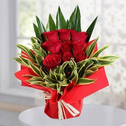 9 Red Roses Arrangement