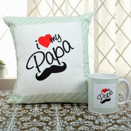 Love You Papa Cushion N Mug