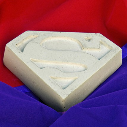 Concrete Superman Paperweight