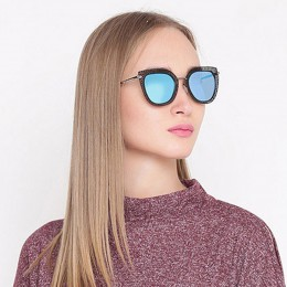 Blue Cat Eye Women Sunglasses