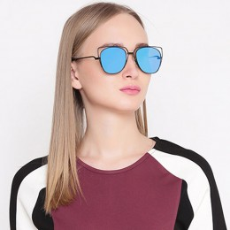 Blue Cat Eye Unisex Sunglasses