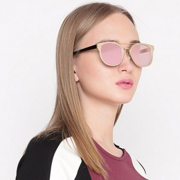Gold N Pink Wayfarer Women Sunglasses