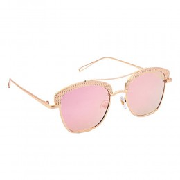 Pink Wayfarer Mirrored Women Sunglasses