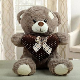 Brown Teddy Bear With Heart