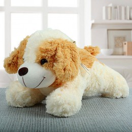 Beige Dog Soft Toy