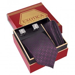Formal Black N Purple Tie Set