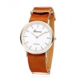 Sleek Tan Unisex Watch