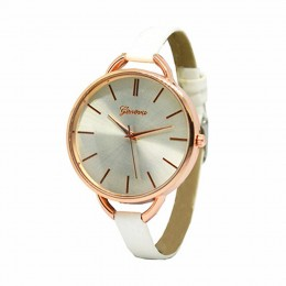 Narrow White Strap Watch For Women