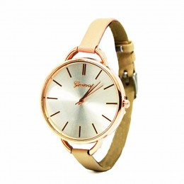 Narrow Nude Strap Watch For Women