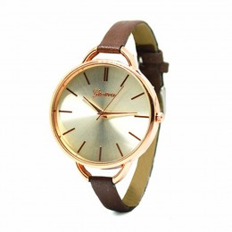 Narrow Brown Strap Watch For Women