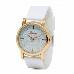 White Sparkle Watch For Women
