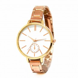 Sleek Metallic rose gold Watch For Women