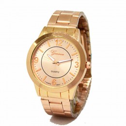 Classic rose gold Metallic Watch For Women