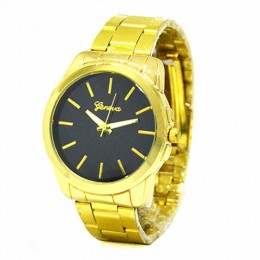 Chunky Black Gold Watch For Women