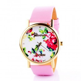 Pink Patent Watch For Women