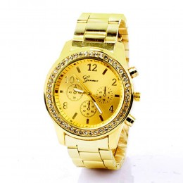 Gold plated Metallic Watch For Women