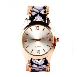 Black N White Bracelet Watch For Women