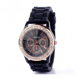 Black Diamante Watch For Women