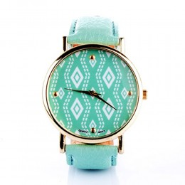 Printed Mint Watch For Women