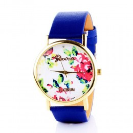 Blue Floral Watch For Women