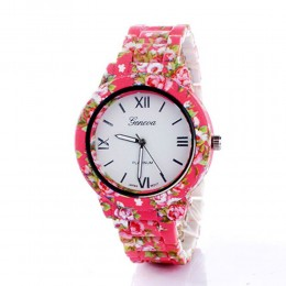 Pink Floral Watch For Women