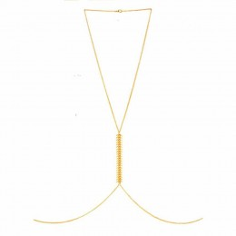Golden Fish Bone Body Chain