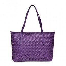 Woven Style Purple Shoulder Bag