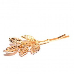 Gold Plated Leaves Hair Clip