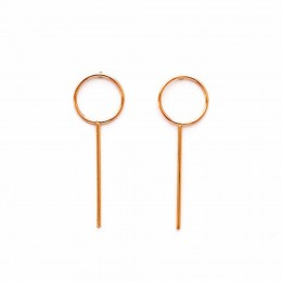 Gold Minimal Loop Earrings