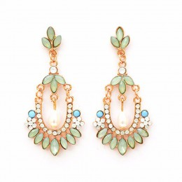 Pastel Mughal Style Earrings