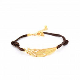 Lovely Single leaf Brown Bracelet