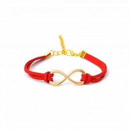 Charming Red Infinity Bracelet